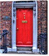 Red Door Dublin Ireland Acrylic Print