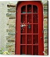 Red Door In Baltimore Acrylic Print
