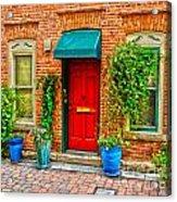 Red Door Acrylic Print by Baywest Imaging