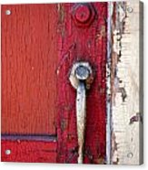 Red Door Acrylic Print by Peter Tellone