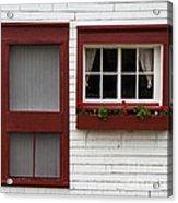 Red Door Red Window Acrylic Print