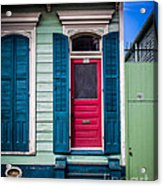 Red Doored House Acrylic Print