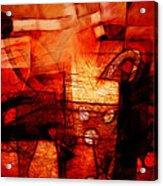 Red Drama Acrylic Print