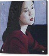 Red Dress Acrylic Print