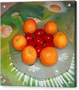 Red Eggs And Oranges Acrylic Print