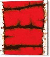 Red Element Acrylic Print