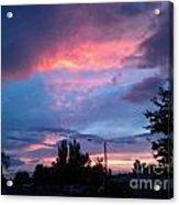 Red Evening Arizona Sky Acrylic Print