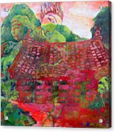 Red Festival Acrylic Print by James Huntley
