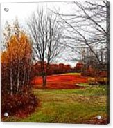 Red Field Autumn Acrylic Print