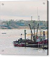 Red Fishing Boat Acrylic Print