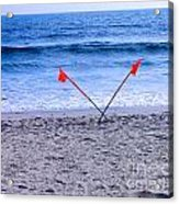 Red Flags Acrylic Print