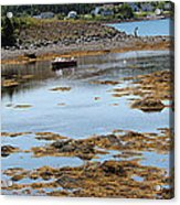 Red Flat At Low Tide Acrylic Print