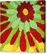 Red Flower Rug Acrylic Print