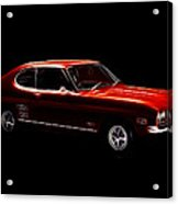 Red Ford Capri Acrylic Print
