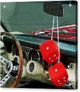 Red Fuzzy Dice In Converible Acrylic Print