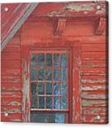 Red Gable Window Acrylic Print