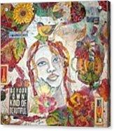 Red Girl 27 Acrylic Print