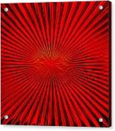 Red Glass Abstract 4 Acrylic Print