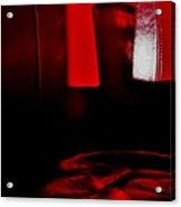 Red Glass Acrylic Print