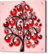 Red Glass Ornaments Acrylic Print