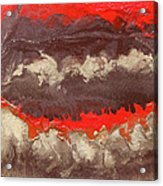 Red Gold And Brown Abstract Acrylic Print