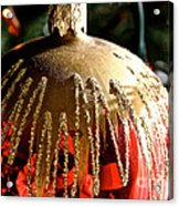 Red Gold Glitter Acrylic Print