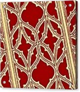 Gothic Pattern On Red Acrylic Print