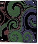 Red Green Blue Swirls Lines Acrylic Print