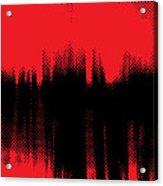 Red Halftone 2 Acrylic Print