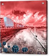 Red Harbouring  Acrylic Print