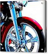 Red Harley Davidson  Acrylic Print