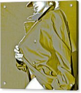 Red Hat And Trenchcoat Acrylic Print