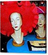 Red Hats Acrylic Print
