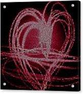 Red Heart Acrylic Print by Aya Murrells