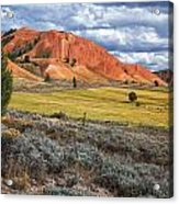 Red Hills Acrylic Print