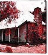 Red Homestead Garden Acrylic Print