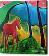 Red Horse Acrylic Print