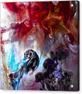 Red Horseman Acrylic Print by Petros Yiannakas