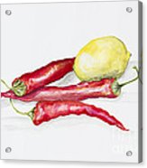 Red Hot Chili Peppers And Lemone Acrylic Print