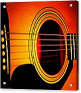 Red Hot Guitar Acrylic Print