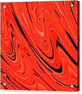 Red Hot Lava Flowing Down Acrylic Print