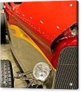 Street Car - Red Hot Rod Acrylic Print