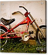 Red Hot Stingray Bike Acrylic Print by Sonja Quintero
