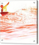 Red Hot Surfer Acrylic Print