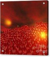 Red Ice Mountain Acrylic Print
