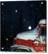 Red International Singing Those Deep Winter Blues  Acrylic Print