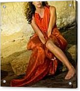 Red Is My Color Acrylic Print