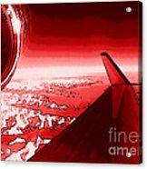 Red Jet Pop Art Plane Acrylic Print