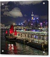 Red Jewel Of The Night Acrylic Print
