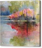 Red Lake Reflection #2 Acrylic Print